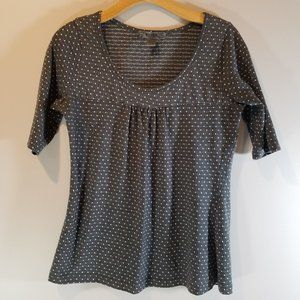 Gray and Silver Square Dot Tee by Bitten size L